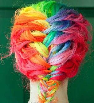 Trenzas color arcoiris