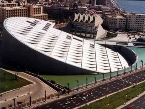Biblioteca de Alejandría. Egipto.