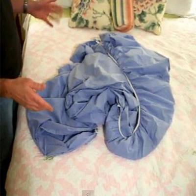 Cómo doblar bien una sábana bajera
