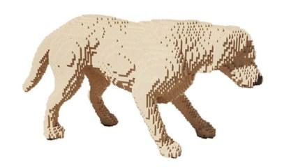 Escultura Lego Perro.