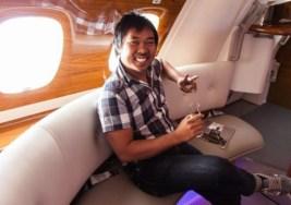 ¿Cómo se vuela en clase ejecutiva en el A380 desde Dubai?
