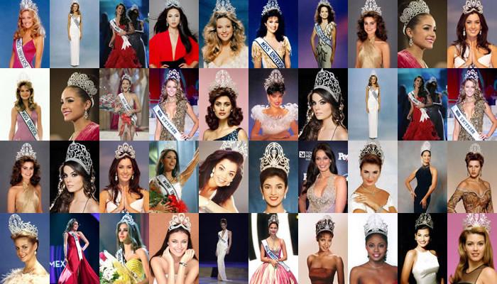 Las mujeres más guapas en los últimos 33 años.