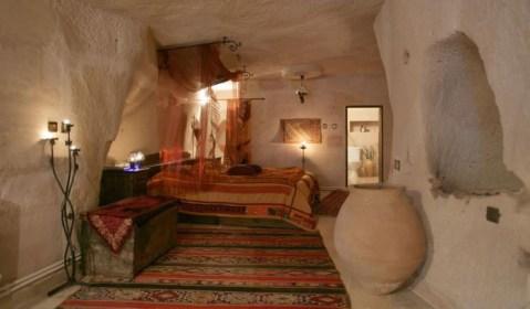 Hotel Cueva en Turquía.