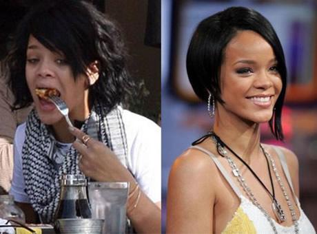 Transformaciones Impresionantes Rihanna sin Maquillarse.