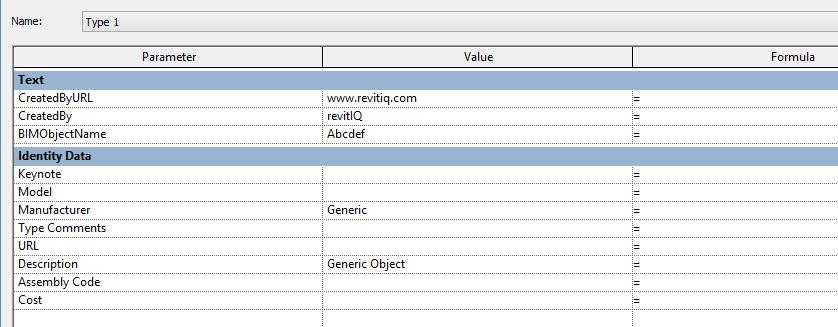 IFC _parameters