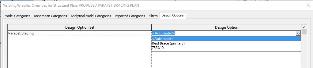 Revit Design Options