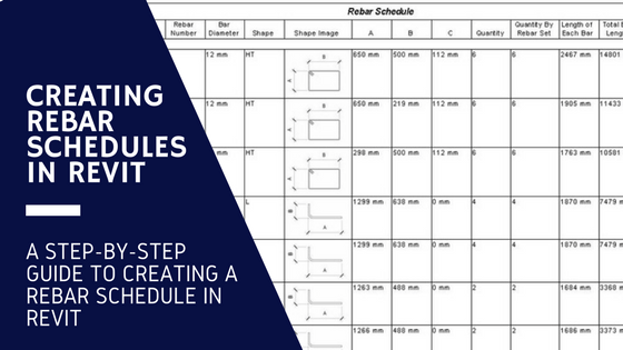 Creating a Rebar Schedule in Revit - with Images! - revitIQ