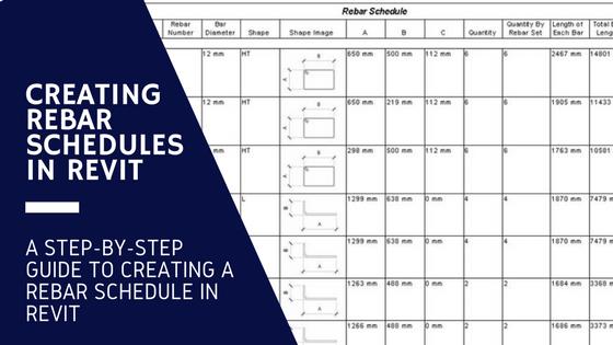 Rebar Schedule in Revit
