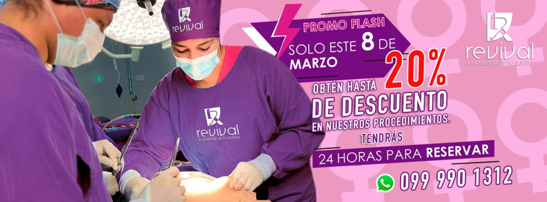 promocion descuento en cirugia plastica por el dia de la mujer
