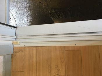 窓サッシ掃除後