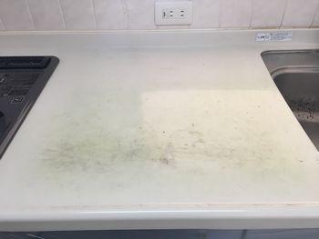 キッチン天板傷