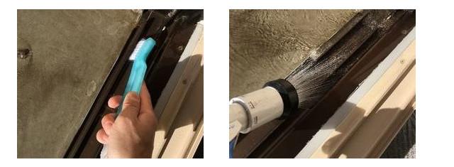サッシレール洗浄