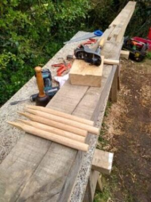 Traditional methods for timber frame repairs