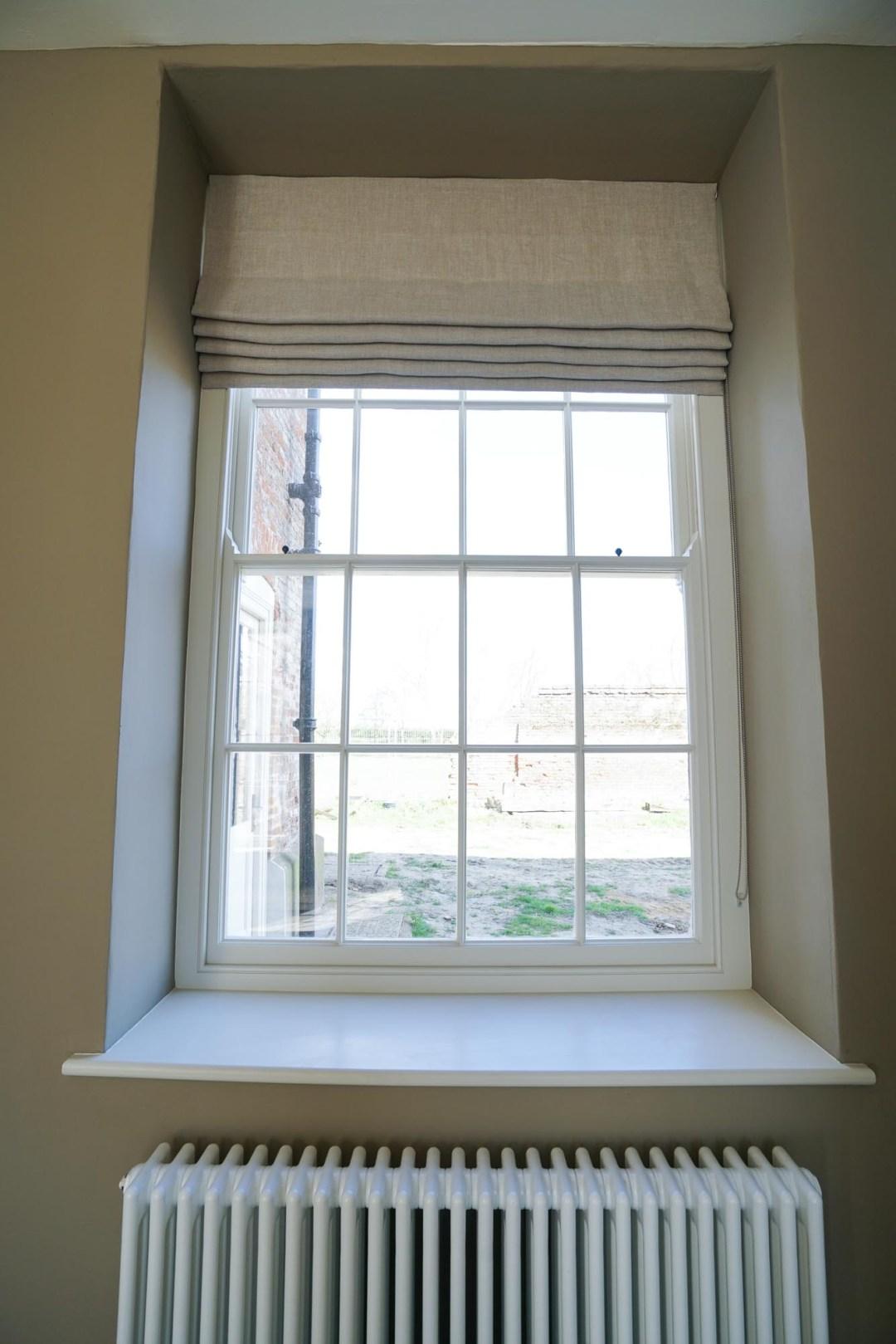 Friston Hall Wooden Sash Window