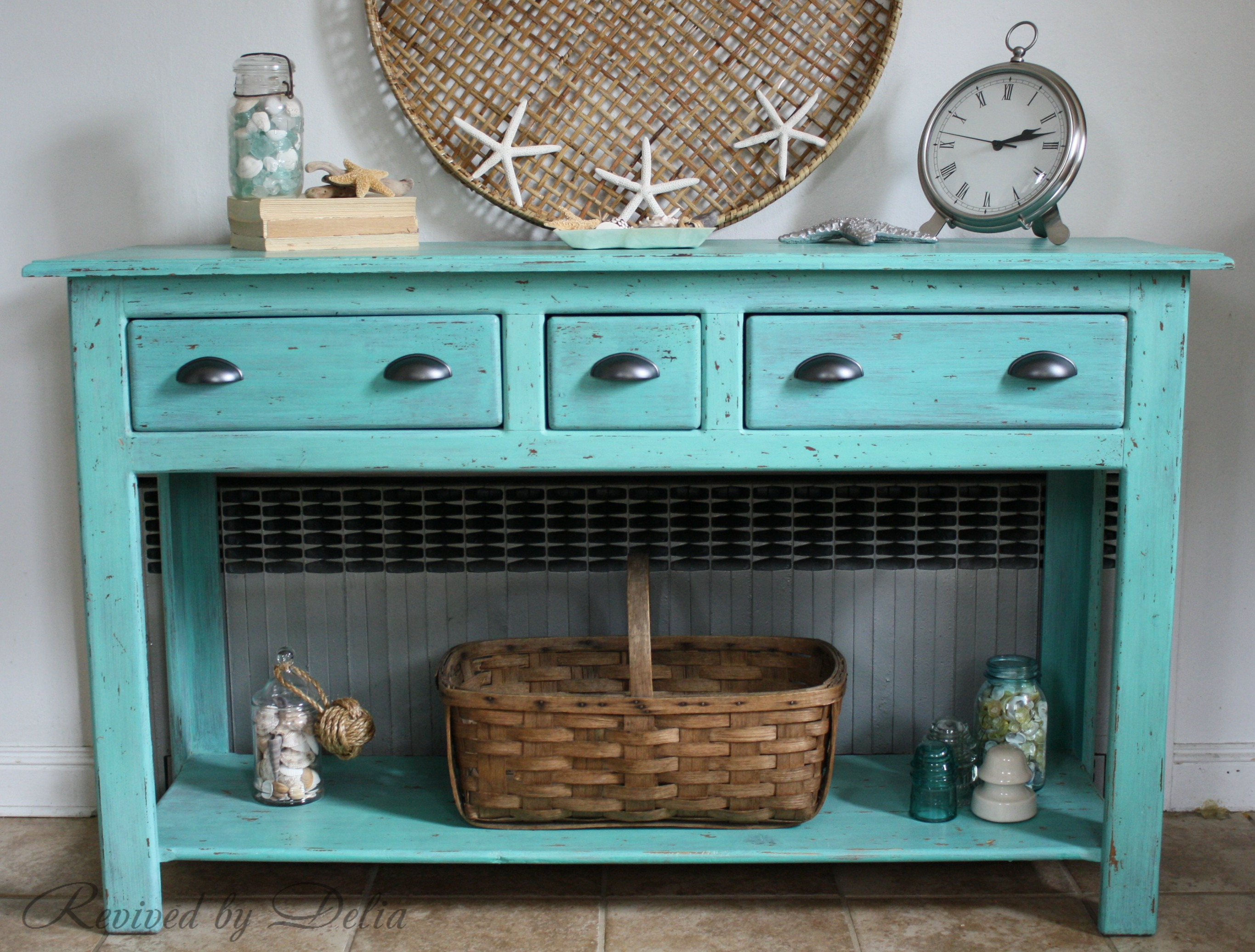 Beachy Sofa Table Redo
