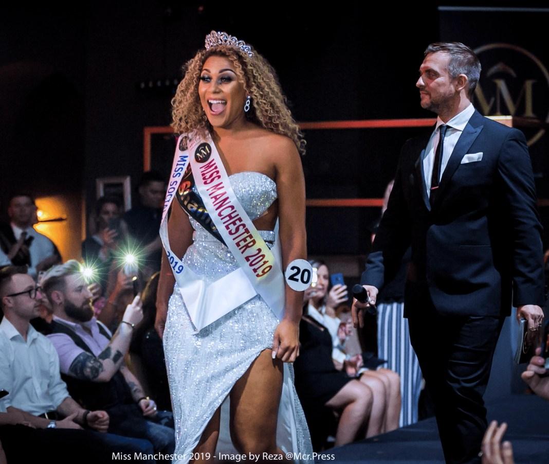 Winner Miss Manchester Suzy Bamgbose 2019