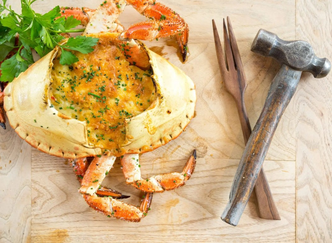 Crab with Leeks