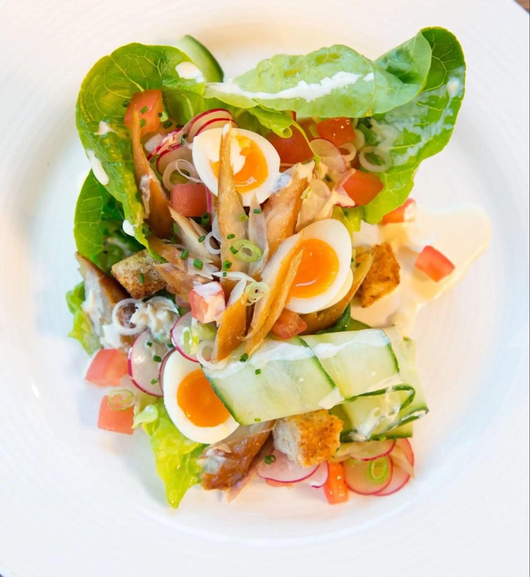 Warm Buckling Salad with Horseradish Sauce