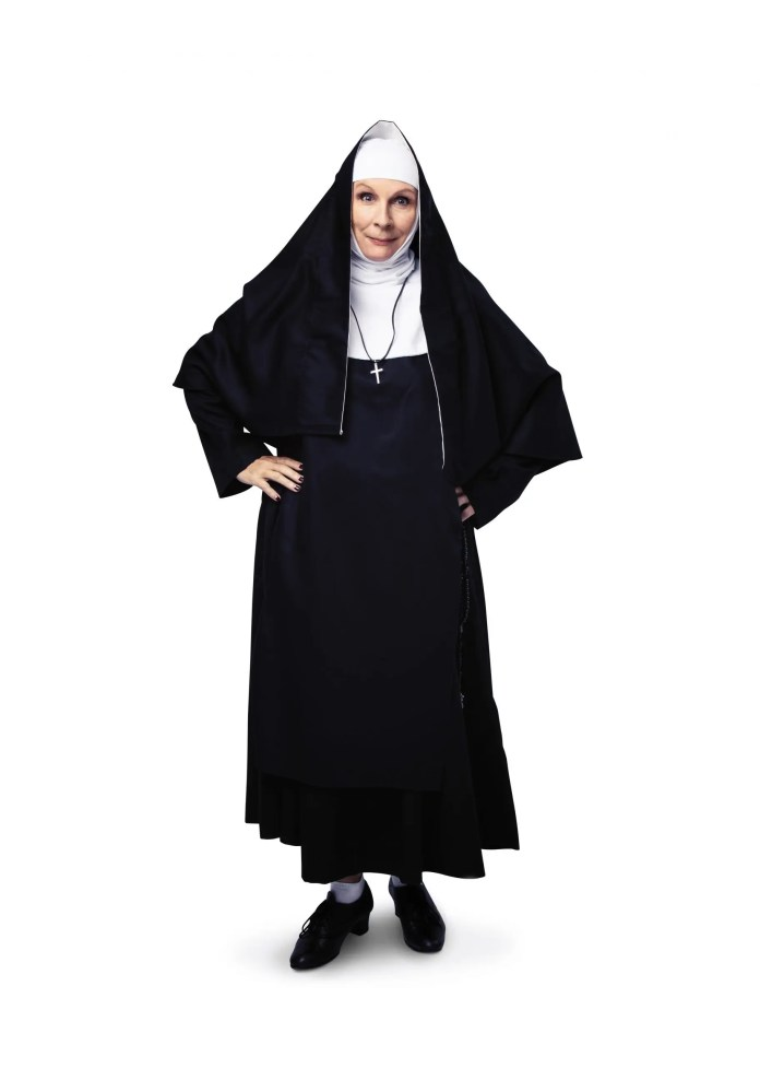 Jennifer Saunders as 'Mother Superior' for Sister Act the Musical. Credit Ollie Rosser