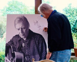 Marty Wilde signing print