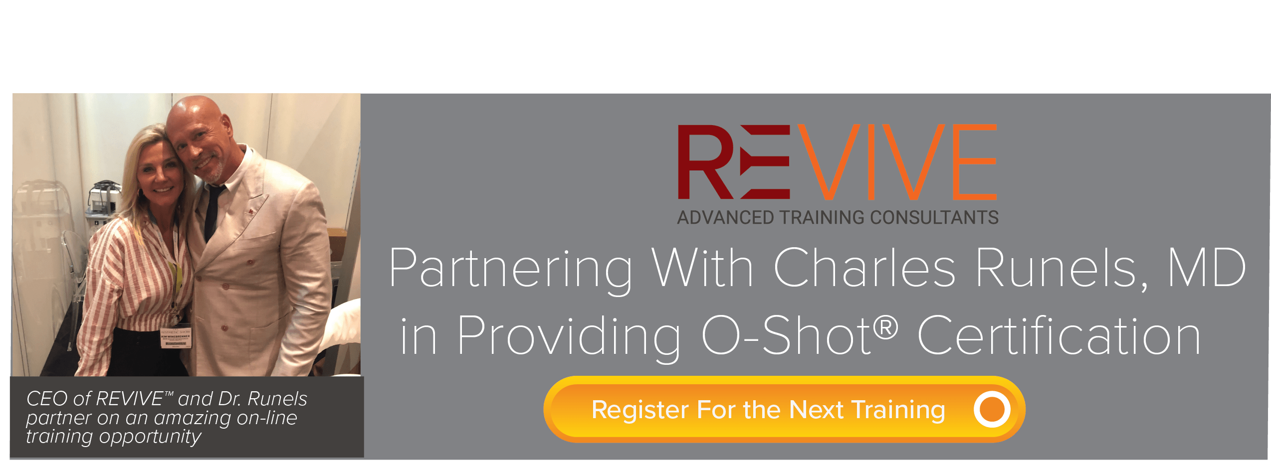Dr Runels partners with REVIVE for Online Training