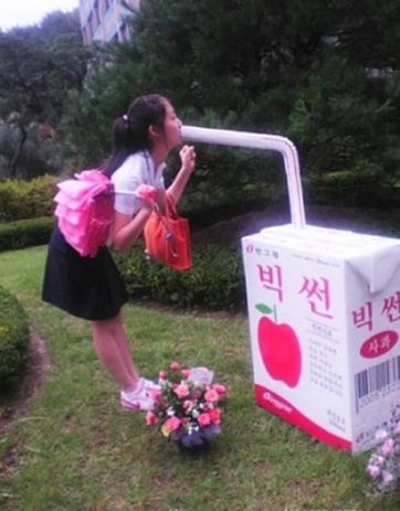 Korean girls drink big
