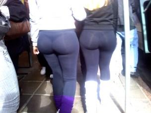 yoga pants in the sun