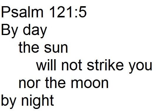 Rev. Justin Lee Marple, Niagara Presbyterian Church, image of chiasm of Psalm 121:5