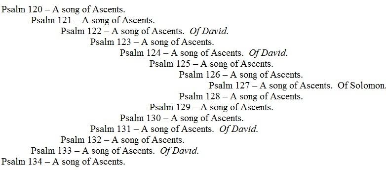 A Song of Ascents Chiasm