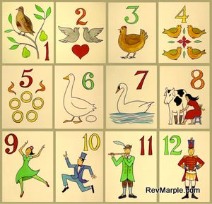 Rev. Justin Lee Marple, Niagara Presbyterian Church, English: The Twelve Days of Christmas song poster Date 22 December 2012, 16:21:27 Source Own work Author Xavier Romero-Frias