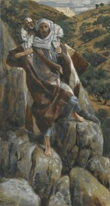 "James Tissot's ""The Good Shepherd"" (Le bon pasteur) about the lost and found sheep"
