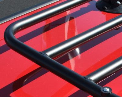 triumph stag luggage rack frame close up