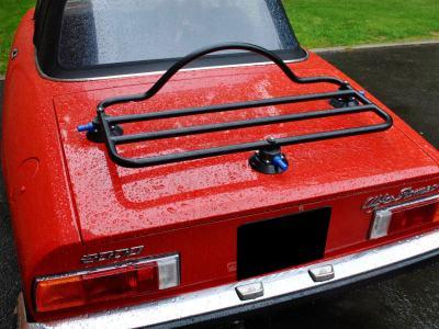 alfa romeo spider luggage rack on red 1972 spider