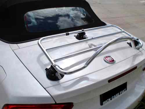 fiat 124 spider trunk rack stainless steel