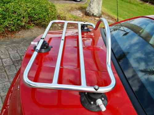 BMW Z3 chrome luggage rack shown on bmw z4 e89