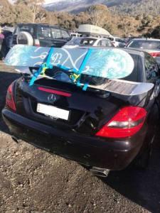 mercede slk ski rack