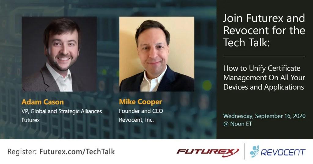 Futurex Social-1200x630-LinkedIn_Tech Talk-Revocent