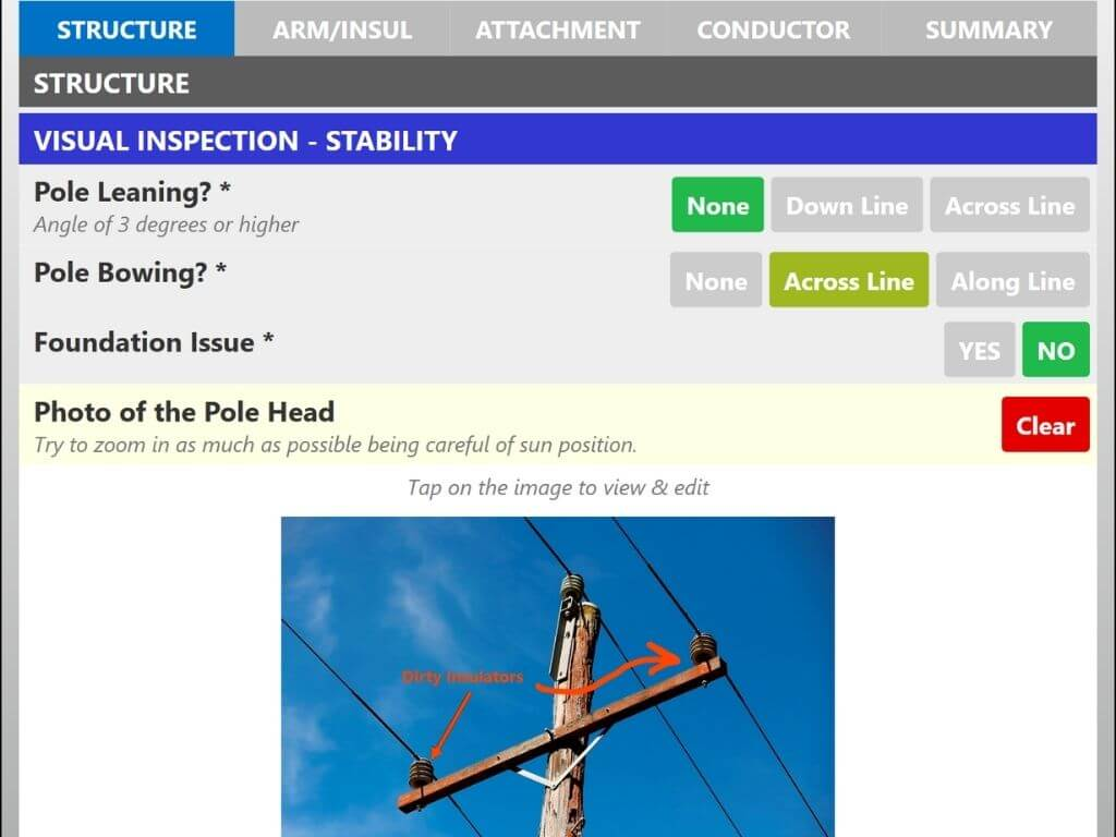 Structural Lines Visual Inspection