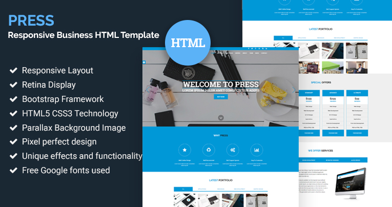 Press responsive business html template free download press responsive business html template free download wajeb Choice Image