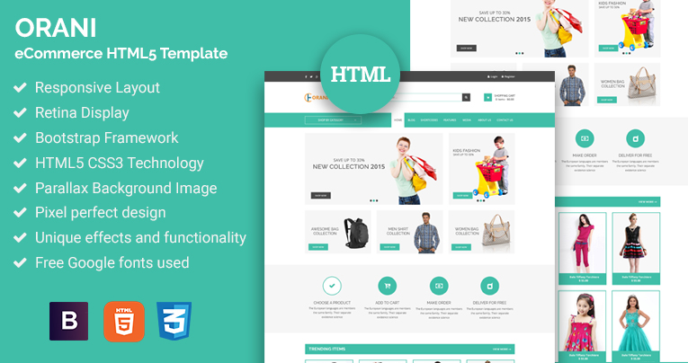 orani ecommerce html5 template free download