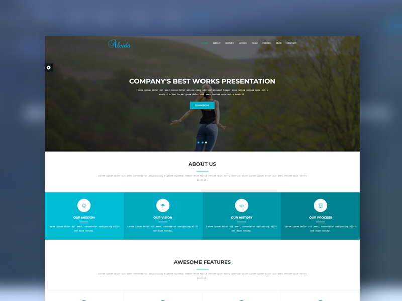 Alvida one page bootstrap business template download alvida one page bootstrap business template cheaphphosting Image collections
