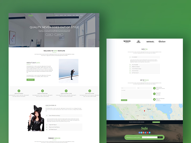 Safa - Corporate & Business Bootstrap Template Download