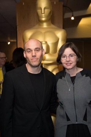"""Joshua Oppenheimer og Signe Byrge Sørensen, her på arrangementet """"Oscar Celebrates: Docs"""" onsdag kveld. Foto:Aaron Poole / ©A.M.P.A.S."""