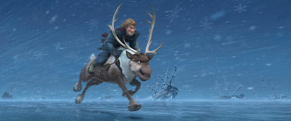 """FROZEN"" KRISTOFF og  SVEN ©2013 Disney. All Rights Reserved."