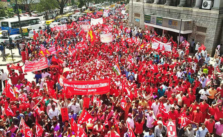 250 million workers strike in India