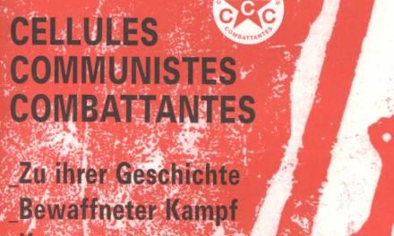 Broschüre zu den Kämpfenden Kommunistischen Zellen (CCC, Belgien)