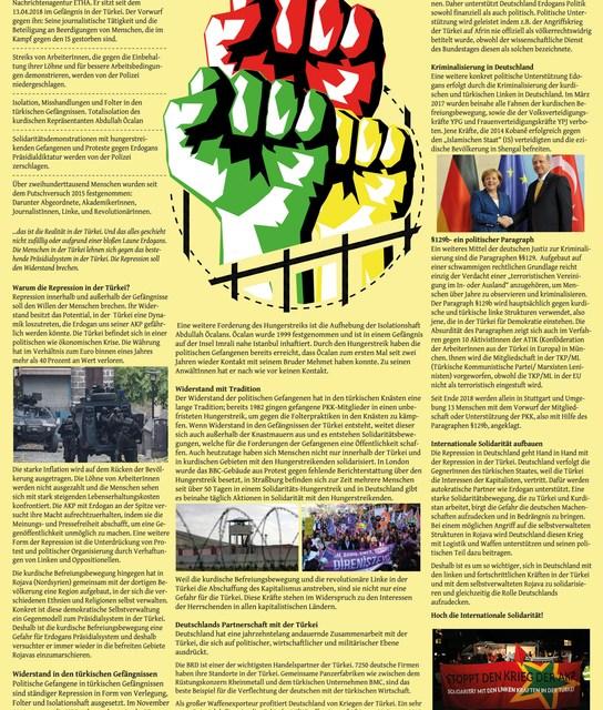 Wandzeitung der Initiative Kurdistan Solidarität Stuttgart