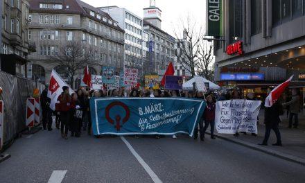 Demonstration zum internationalen Frauenkampftag