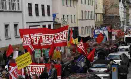 BESETZEN-Block auf Mietendemo und Aktionen gegen Grüne, Vonovia und Leerstand