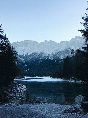 Eibsee, Bayern, im Januar